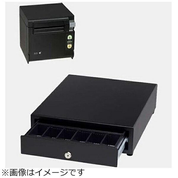 セイコーインスツル AirレジAセット(黒) レシートプリンター RP-D10-K27J2-B/キャッシュドロア DRW-A01-K[エアレジAセットクロ]