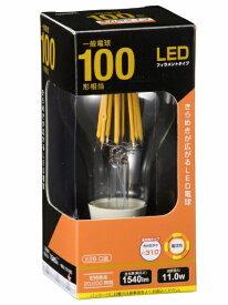 オーム電機 OHM ELECTRIC LDA12L C6 LEDフィラメント電球 クリア [E26 /電球色 /1個 /100W相当 /一般電球形 /全方向タイプ][LDA12LC6]