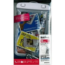 ラスタバナナ RastaBanana ポケット付きスマートフォン用防水ケース Mサイズ RBCA193 ホワイト