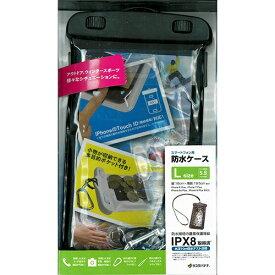 ラスタバナナ RastaBanana ポケット付きスマートフォン防水ケース Lサイズ BK RBCA195 ブラック RBCA195 ブラック