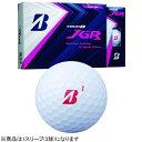 ブリヂストン BRIDGESTONE ゴルフボール JGR パールピンク 8JOPX [3球(1スリーブ) /ディスタンス系]【オウンネーム非対応】