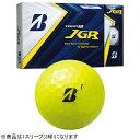 ブリヂストン BRIDGESTONE ゴルフボール JGR イエロー 8JYX [3球(1スリーブ) /ディスタンス系]【オウンネーム非対応】