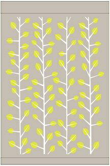 丸眞 タオルケット ブランチパターン(シングルサイズ/140×190cm/グリーン)