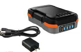 ブラック&デッカー BLACK + DECKER GoPak 充電池(USBケーブル・ACアダプタ付き)