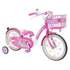 アイデス ides 18型 幼児用自転車 Poppin' Ribbon(ミニーマウスデザイン/ピンク) 【代金引換配送不可】