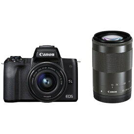 キヤノン CANON EOS Kiss M ミラーレス一眼カメラ ブラック [ズームレンズ+ズームレンズ][EOSKISSMBKWZK]【point_rb】