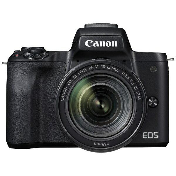 【送料無料】 キヤノン CANON EOS Kiss M【EF-M18-150 IS STM レンズキット】(ブラック/ミラーレス一眼カメラ)[EOSKISSMBK18150ISSTM]