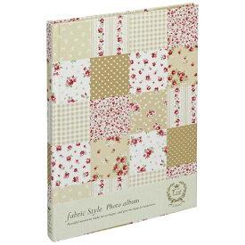 ナカバヤシ Nakabayashi ファブリックスタイル ブック式フリーアルバム 100年台紙 B5 ラブリーフラワーチェック(ベージュ) アHB5B175V