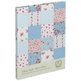 ナカバヤシ Nakabayashi ファブリックスタイル ブック式フリーアルバム 100年台紙 B5 ラブリーフラワーチェック(ブルー) アHB5B175B