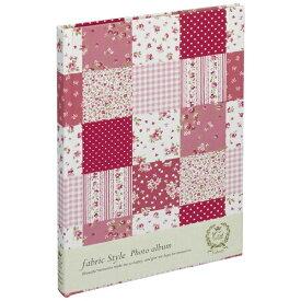 ナカバヤシ Nakabayashi ファブリックスタイル ブック式フリーアルバム 100年台紙 B5 ラブリーフラワーチェック(ピンク) アHB5B175P