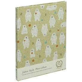 ナカバヤシ Nakabayashi ファブリックスタイル ブック式フリーアルバム 100年台紙 B5 北欧クマ(ベージュ) アHB5B174V