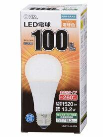オーム電機 OHM ELECTRIC LDA13L-G AG5A LED電球 ホワイト [E26 /電球色 /1個 /100W相当 /一般電球形 /全方向タイプ][LDA13LGAG5A]