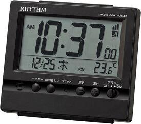 リズム時計 RHYTHM 目覚まし時計 【フィットウェーブヴィスタ】 黒 8RZ201SR02 [デジタル /電波自動受信機能有]