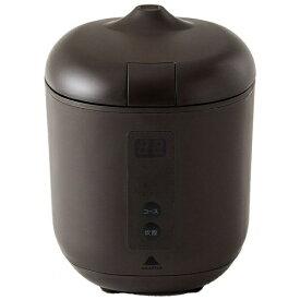 神明きっちん AK-PD01 炊飯器 poddi(ポッディー) ブラウン [1.5合 /マイコン][AKPD01]