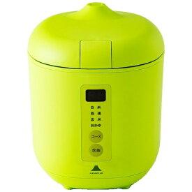 神明きっちん AK-PD01 炊飯器 poddi(ポッディー) グリーン [1.5合 /マイコン][AKPD01]