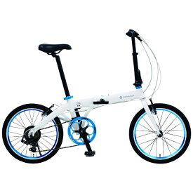 ルノー RENAULT 20型 折りたたみ自転車 ルノー ライト10 AL207(ホワイト/外装7段変速) 11280-12【組立商品につき返品不可】 【代金引換配送不可】