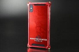 GILD design ギルドデザイン モンスターハンターワールドソリッドバンパーforiPhoneX/レッド/ネルギガンテ GI-MON-8