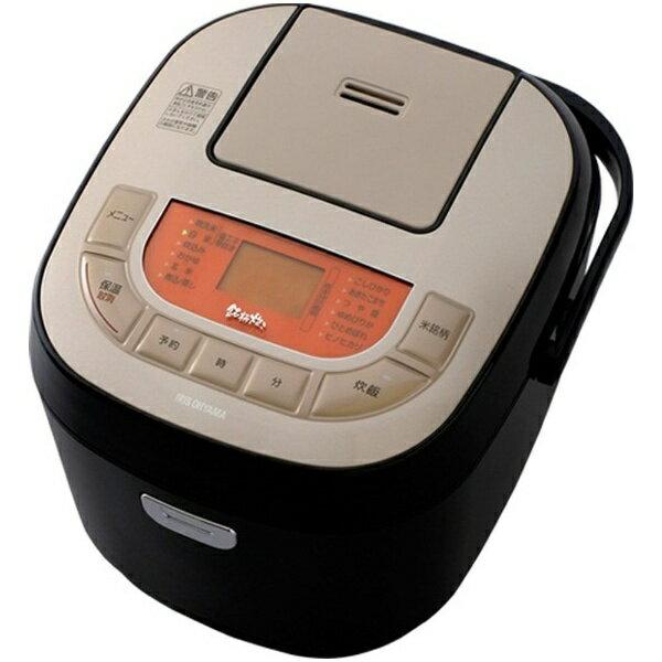 アイリスオーヤマ IRIS OHYAMA KRC-MB10 炊飯器 米屋の旨み 銘柄炊き ブラック [1升 /マイコン][KRCMB10B]