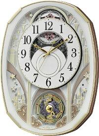 リズム時計 RHYTHM からくり時計 【スモールワールドノエルS】 白 4MN551RH03 [電波自動受信機能有]