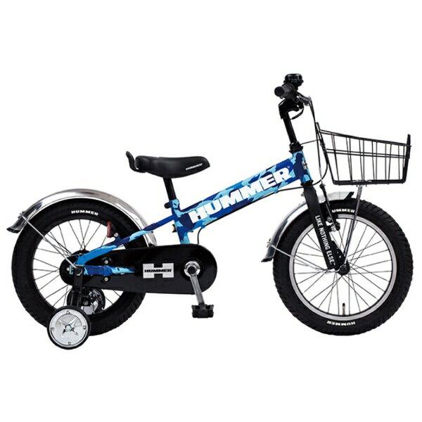 【送料無料】 ハマー 16型 幼児用自転車 ハマー KIDS TANK3.0-SE(ブルーカモフラージュ/シングルシフト) 13377-63【組立商品につき返品不可】 【代金引換配送不可】