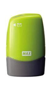マックス MAX レターオープナー付個人情報保護スタンプ「コロレッタ」ライトグリーン SA-151RL/LG