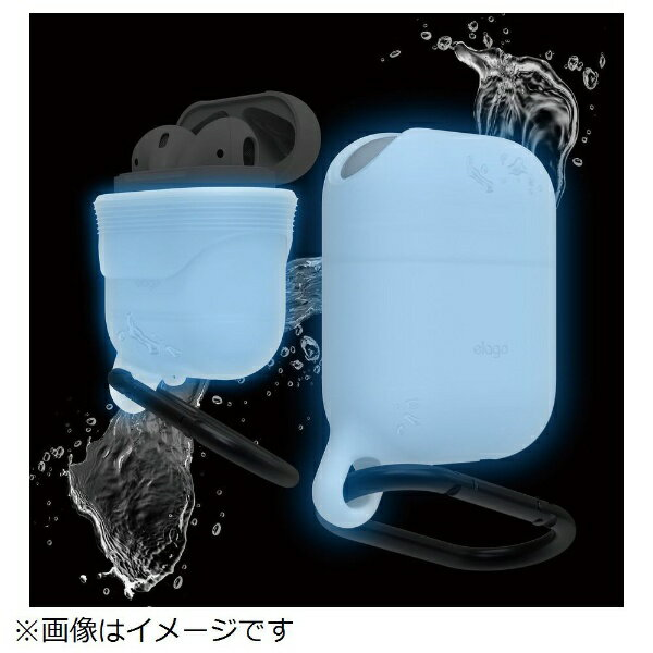 ELAGO AirPods用防水ケース WaterProof Hang Case for AirPods EL_APDCSSCWH_NB ナイトルミナス(夜光色)