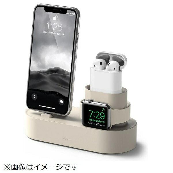 ELAGO iPhone / AirPods / Apple Watch用充電スタンド Charging Hub for iPhone / AirPods / Apple Watch EL_IAASTSC3S_CW クラッシックホワイト