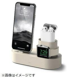 ELAGO エラゴ iPhone / AirPods / Apple Watch用充電スタンド Charging Hub for iPhone / AirPods / Apple Watch elago クラッシックホワイト EL_IAASTSC3S_CW