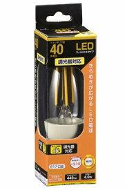 オーム電機 OHM ELECTRIC LDC4L-E17/D C6 LEDフィラメント電球 クリア [E17 /電球色 /1個 /40W相当 /シャンデリア電球形 /全方向タイプ][LDC4LE17/DC6]