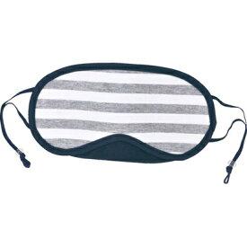 TTC 洗えるボーダー・アイマスク COS0490 グレー