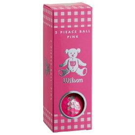 ウィルソン Wilson レディース ゴルフボール ベアー3 ピンク [3球(1スリーブ) /ディスタンス系]【オウンネーム非対応】