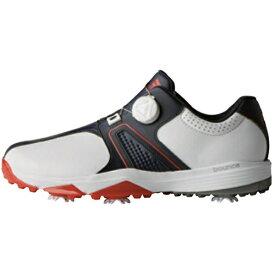 アディダス adidas メンズ ゴルフシューズ 360 トラクション ボア ワイド(25.5cm/ホワイト×カレジエイトネイビー×スカーレット) F33770