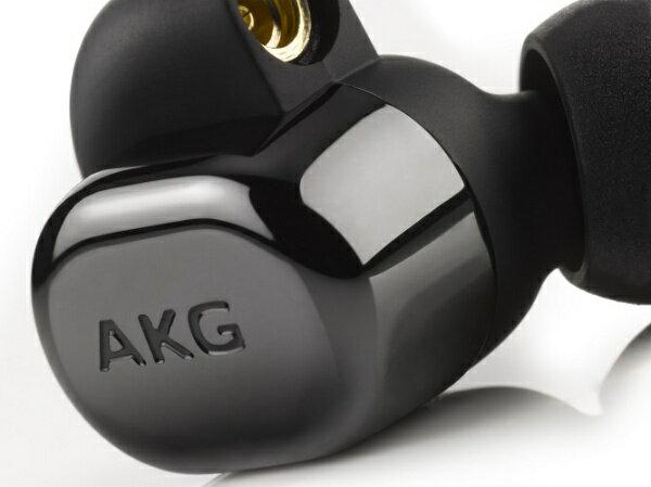 AKG 【ハイレゾ音源対応】[マイク付]カナル型イヤホン(ピアノブラック) AKGN5005BLKJP ピアノブラック [ハイレゾ対応 /リモコン・マイク対応 /φ3.5mm ミニプラグ]