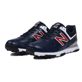 ニューバランス New Balance メンズ スパイクレス ゴルフシューズ(23.0cm/ネイビー×レッド) MGS574 NR