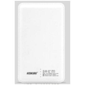 ANS KPB-G10000GPS モバイルバッテリー ホワイト [10000mAh /1ポート /Lightning /microUSB /充電タイプ]