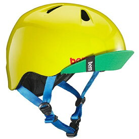 BERN バーン 子供用ヘルメット NINO ALL SEASON (Gloss Yellow Green/ XS-Sサイズ:48〜51.5cm) BE-VJBGYLV-11