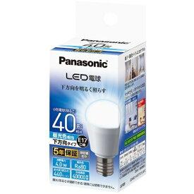 パナソニック Panasonic LDA4D-H-E17/E/S/W2 LED電球 小形電球形 ホワイト [E17 /昼光色 /1個 /40W相当 /一般電球形 /下方向タイプ]