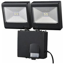 オーム電機 OHM ELECTRIC 【屋外用】ソーラー式LEDセンサーライト(2灯4W) LS-SH2D-4K LS-SH2D4-K ブラック