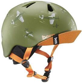 BERN バーン 子供用ヘルメット NINO ALL SEASON (Matte Green Dogfight/ XS-Sサイズ:48〜51.5cm) BE-VJBMGDV-11