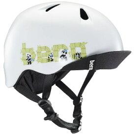 BERN バーン 子供用ヘルメット NINO ALL SEASON (Satin White Panda Logo/ S-Mサイズ:51.5〜54.5cm) BE-VJBSWPV-12