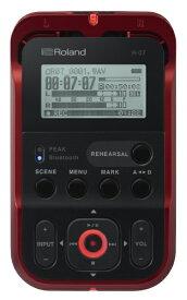 ローランド Roland R-07 ICレコーダー レッド [Bluetooth対応 /ハイレゾ対応][録音機 ボイスレコーダー 小型 高音質 長時間]