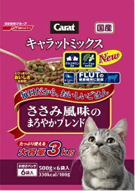 日清ペットフード Nisshin Pet Food キャラットミックス ささみ風味のまろやかブレンド 3kg