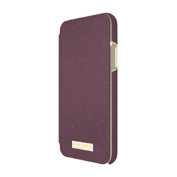 【送料無料】 FOX kate spade new york Folio Case for iPhone X - Mahogany KSIPH-083-MAH KSIPH-083-MAH