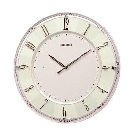セイコー SEIKO 掛け時計 【スタンダード】 ピンクパール KX504P [電波自動受信機能有]