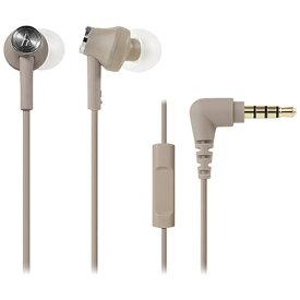 オーディオテクニカ audio-technica カナル型イヤホン ATH-CK350iS BG ベージュ [リモコン・マイク対応 /φ3.5mm ミニプラグ][ATHCK350ISBG]