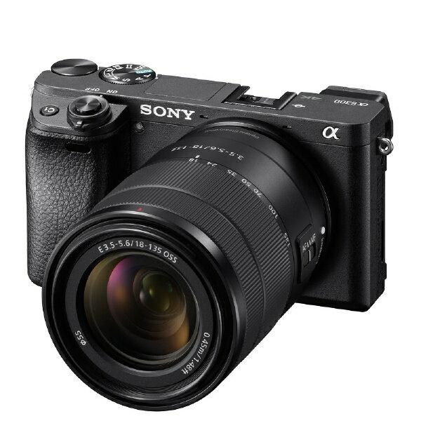 【送料無料】 ソニー SONY α6300 高倍率ズームレンズキット(ブラック/ミラーレス一眼カメラ) ILCE-6300M