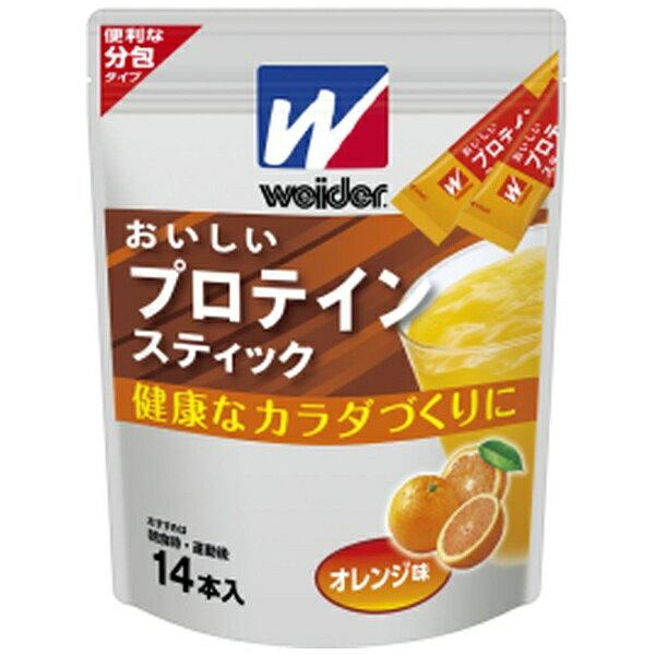 森永製菓 MORINAGA おいしいプロテインスティック【オレンジ風味/140g(14本×10g)】