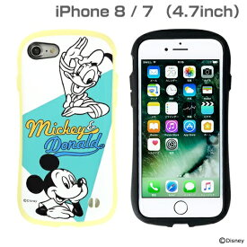HAMEE ハミィ [iPhone 8/7専用]ミッキー90周年限定/ディズニーキャラクターiFace First Class Pastelケース(ミッキー&ドナルド/イエロー)