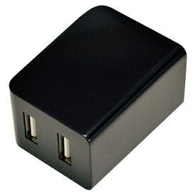 ラスタバナナ RastaBanana 2.4A 2ポート USB AC充電器 キューブ型 BK RBAC119 ブラック