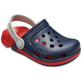 クロックス Crocs 17.5cm 子供用 サンダル Kids Electro III Clogs(C10:Navy×Flame) 204991